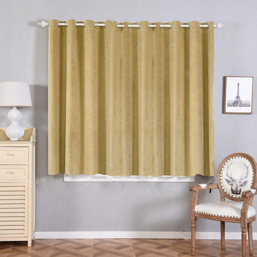 Champagne Blackout Curtain 2 Packs 52 X 64 Inch Drop Curtains