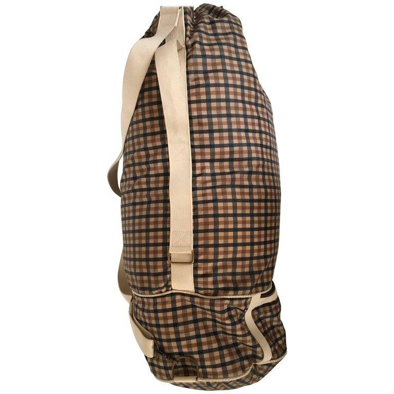 f56ca3d6b66 1980 s Aquascutum Travel Duffle Bag w  Separate Garment Bag