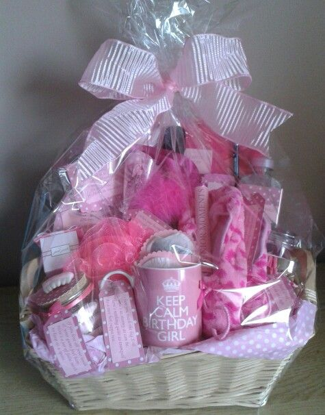 Pink And Past It Hamper For A Friends 50th Birthday Gifts Include Bottle Of