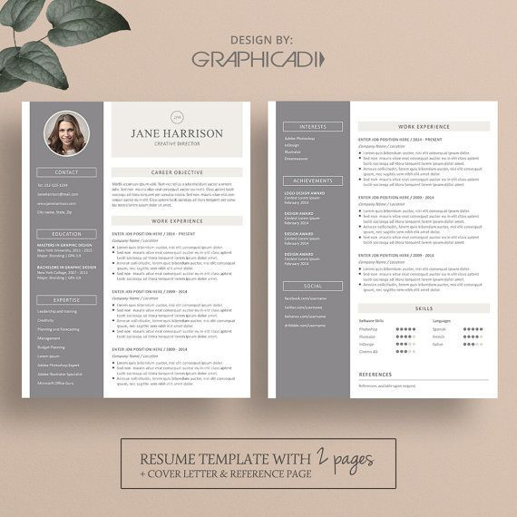 Resume template for Microsoft Word and Apple iWork Pages with free - apple pages resume templates