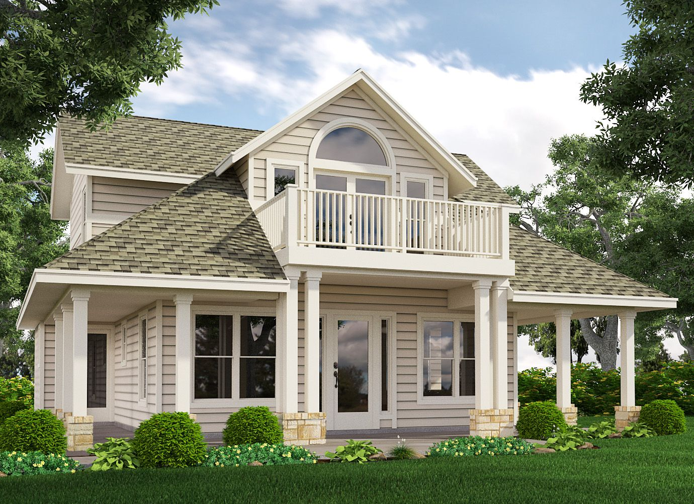 Loft with Balcony House with balcony House plan with