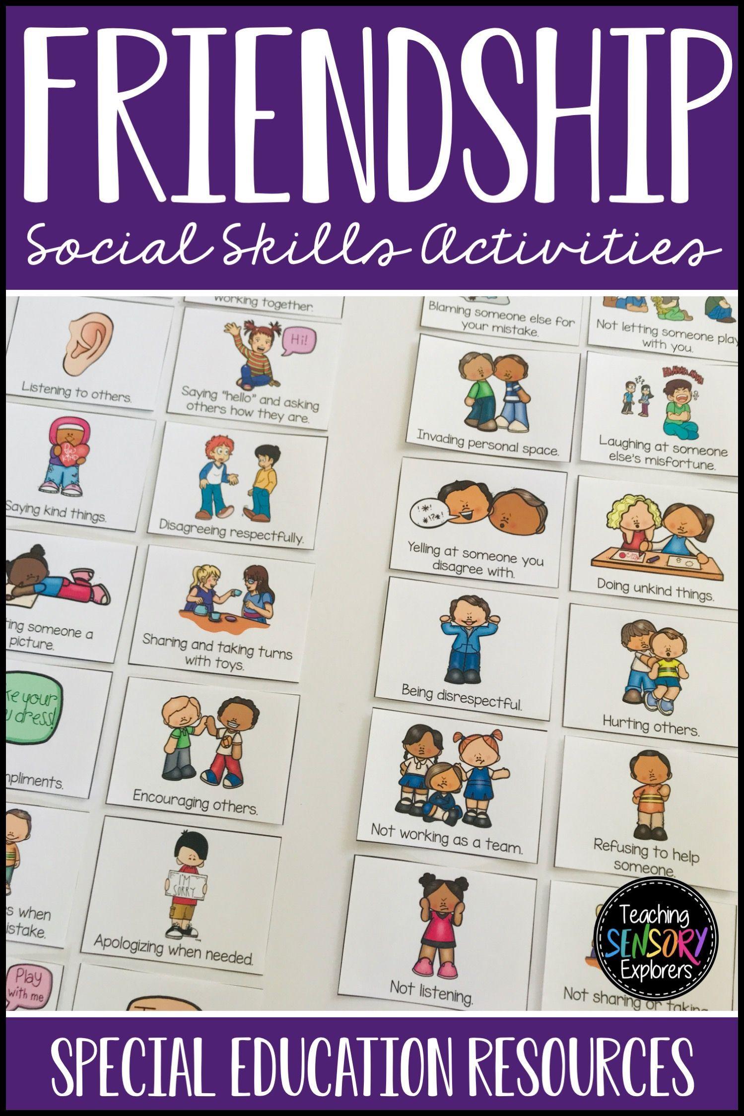 Friendship Social Skills Worksheets Activity And Social