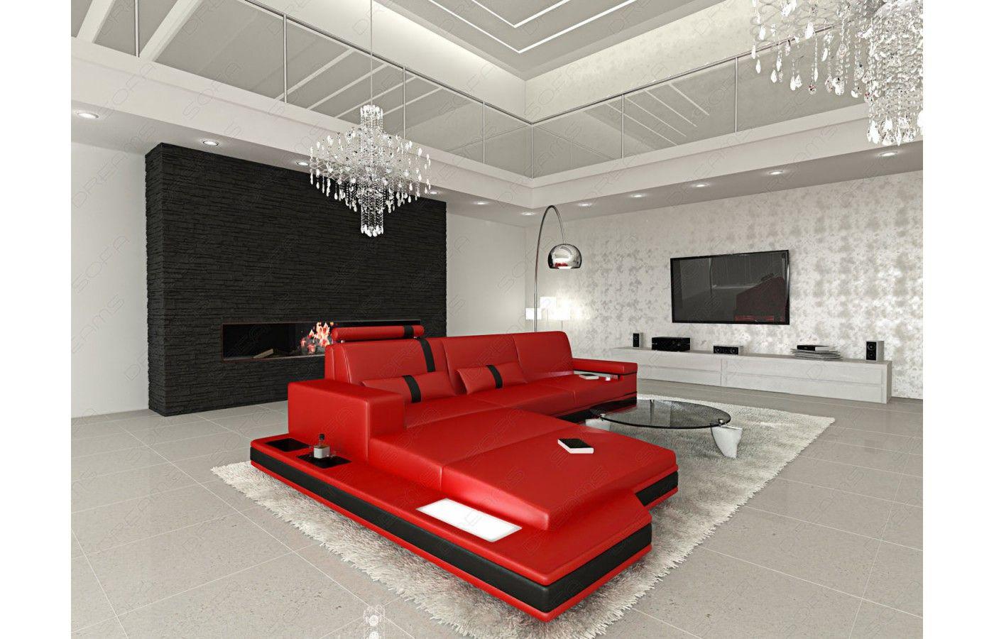 Perfect Exklusive Designerm bel bei Sofa Dreams Ledersofa MESSANA in L Form mit