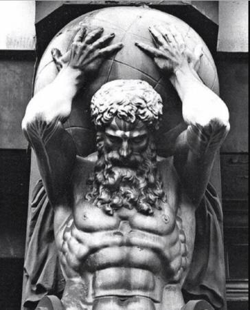 Atlas Greek Mythology Statue Mythology Tattoos Statue
