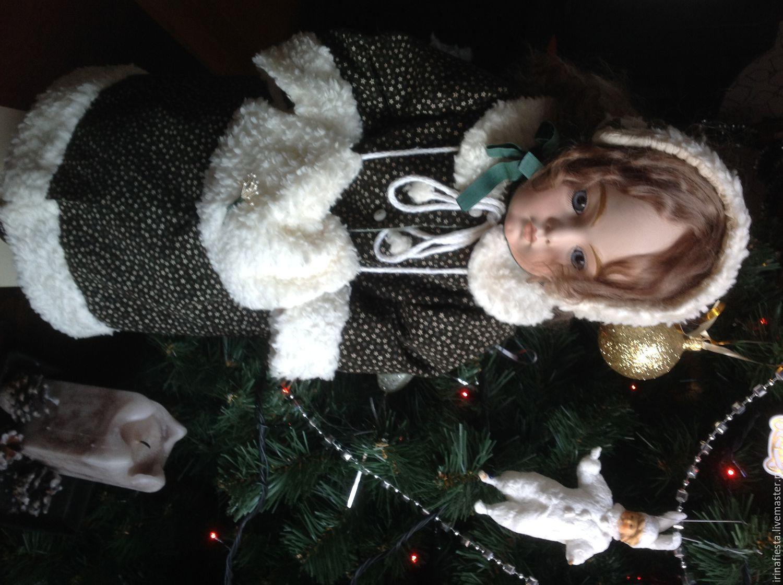 Купить пальто и боннет для антикварной куклы, реплики - комбинированный, куклы и игрушки, одежда для куклы
