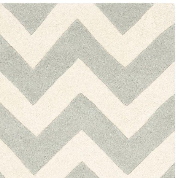 Safavieh Handmade Moroccan Chatham Chevron Blue Grey/ Ivory Wool Rug (8' x 10')