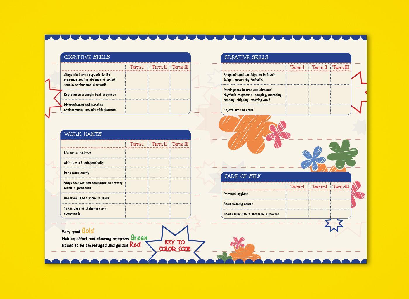 Pre Nursery Report Card On Behance