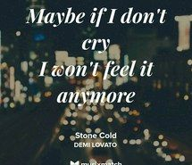 Inspiring image demi lovato, lyrics, stone cold #3708051 by Maria_D - Resolution 1080x1080px - Find the image to your taste