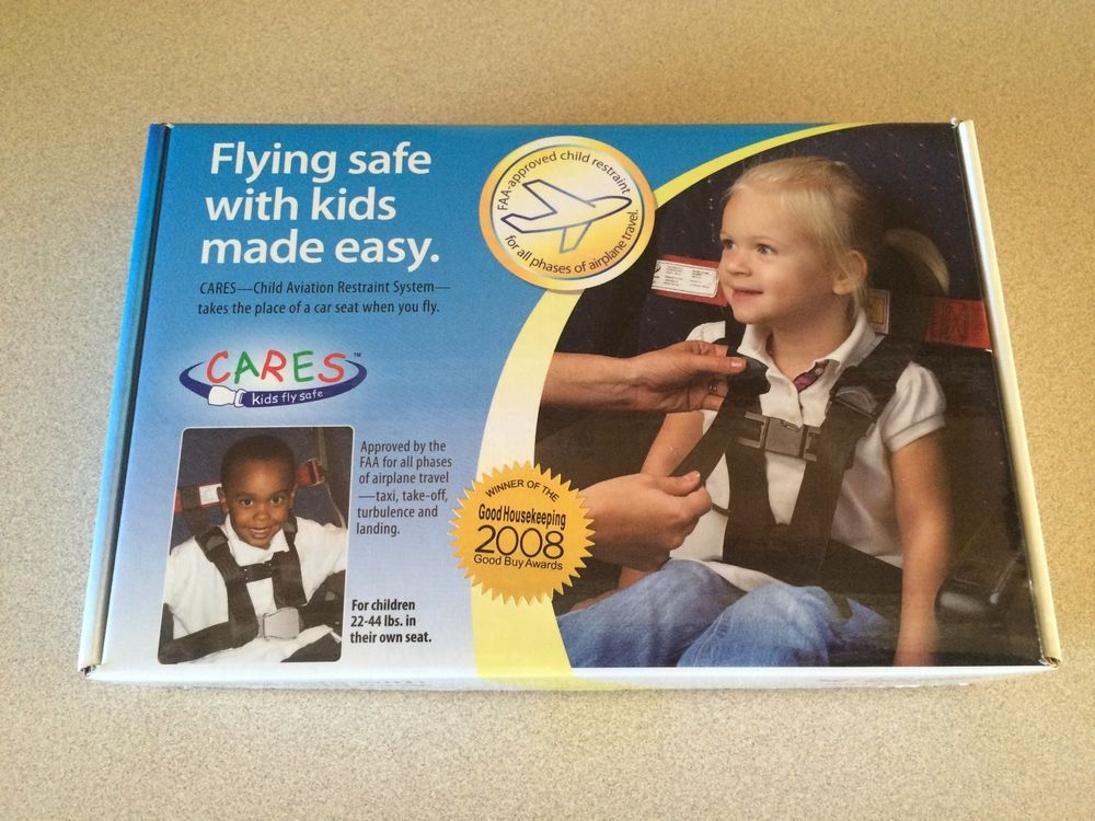 New CARES Kids Fly Safe Airplane Harness Seatbelt Safety