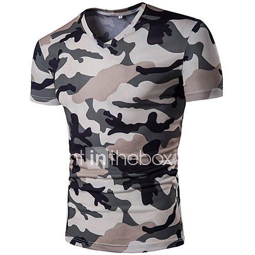 Hombre Simple Activo Casual Diario Verano Camiseta 908004eefe525