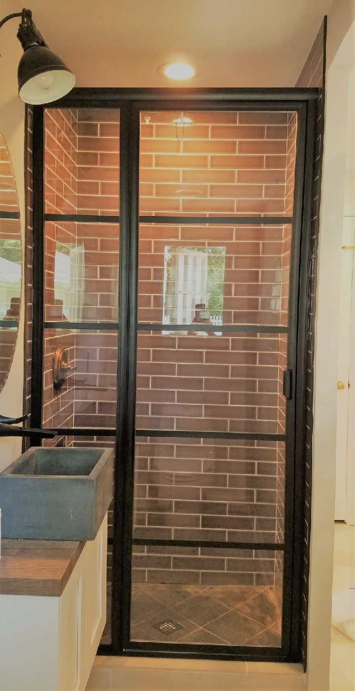 HOT TREND BLACK GRID DESIGN! | Shower & Tub Door Enclosures ...