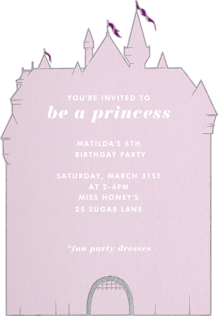 Girl Castle by Paperless Post Online invitations for kids