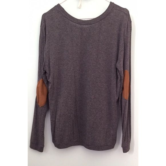 Zara Knit with Elbow Patches Grey knit sweater. Zara Tops Tees - Long Sleeve