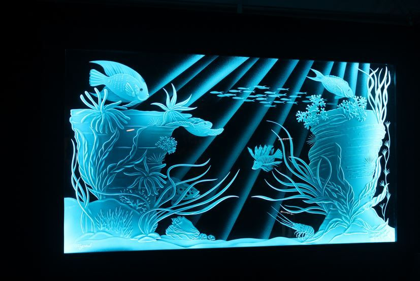 Etched Glass & Stained Glass LED Lighting | Illumination art, Engraving  glass diy, Glass artists