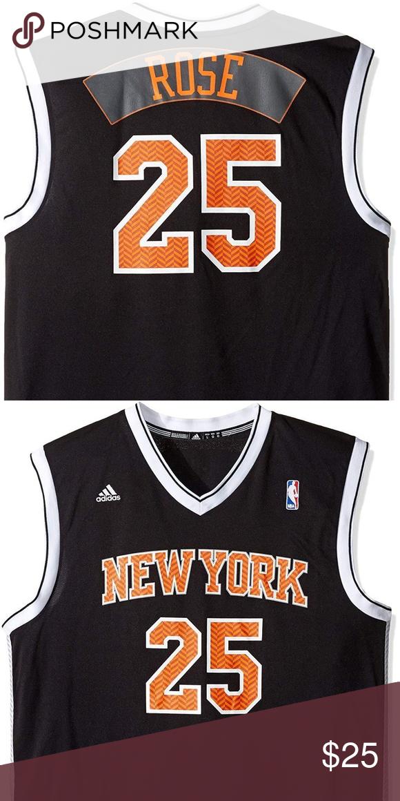 save off d19c7 872dd NBA New York Knicks Derrick Rose #25 Chevron NBA New York ...