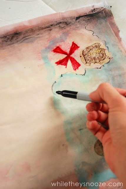 While they snooze how to make a pirate treasure map - Piratenzimmer wandgestaltung ...