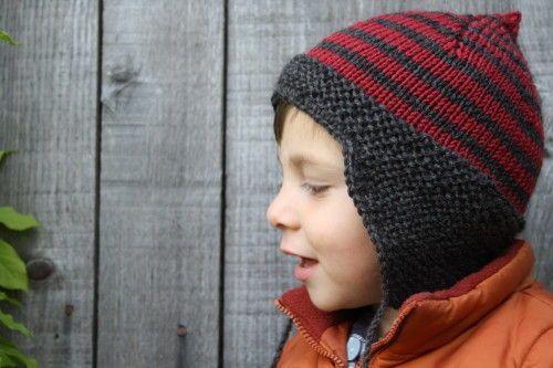 tricoter un bonnet oreille