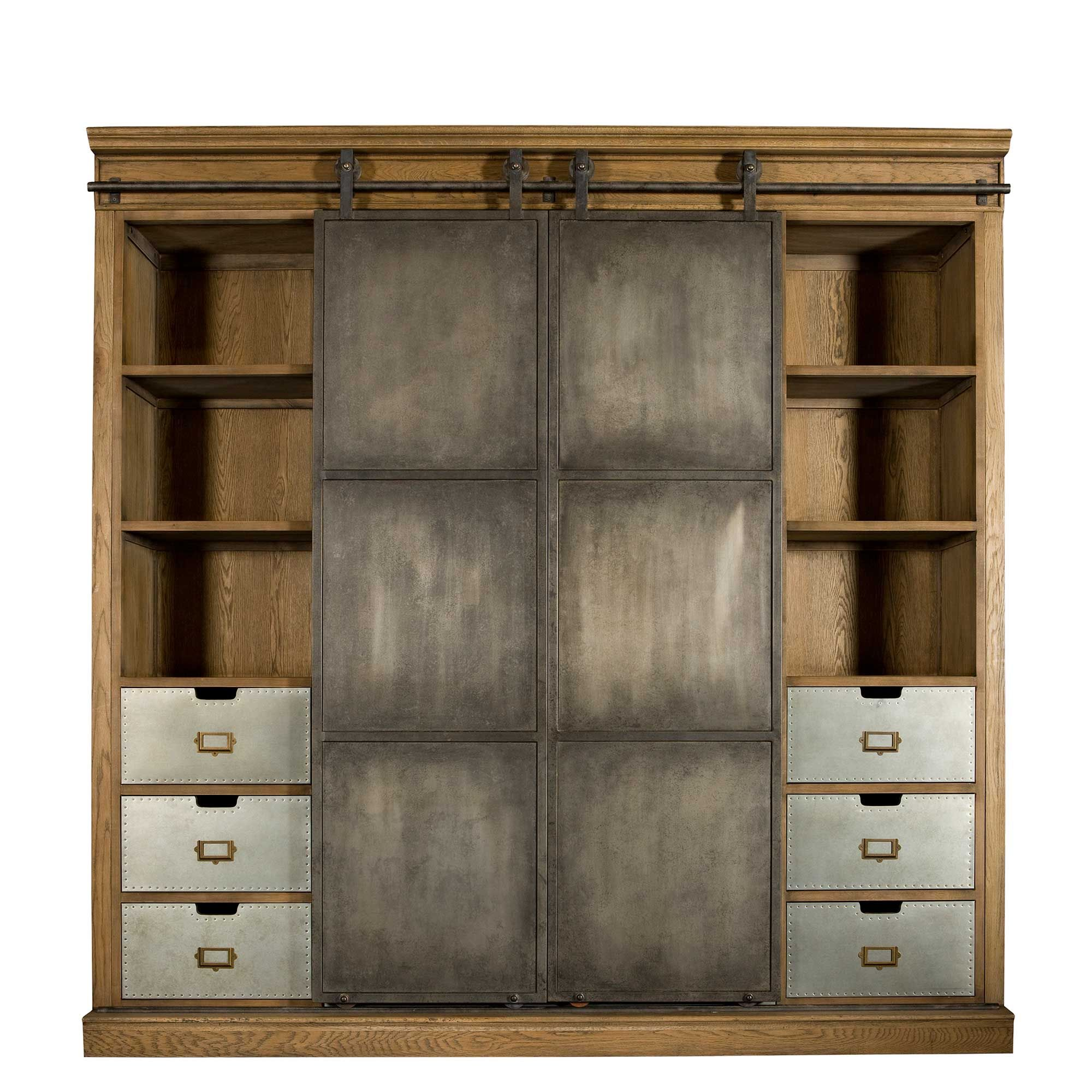 This Grand Cabinet With Its Rustic Industrial Charm Boasts Plenty