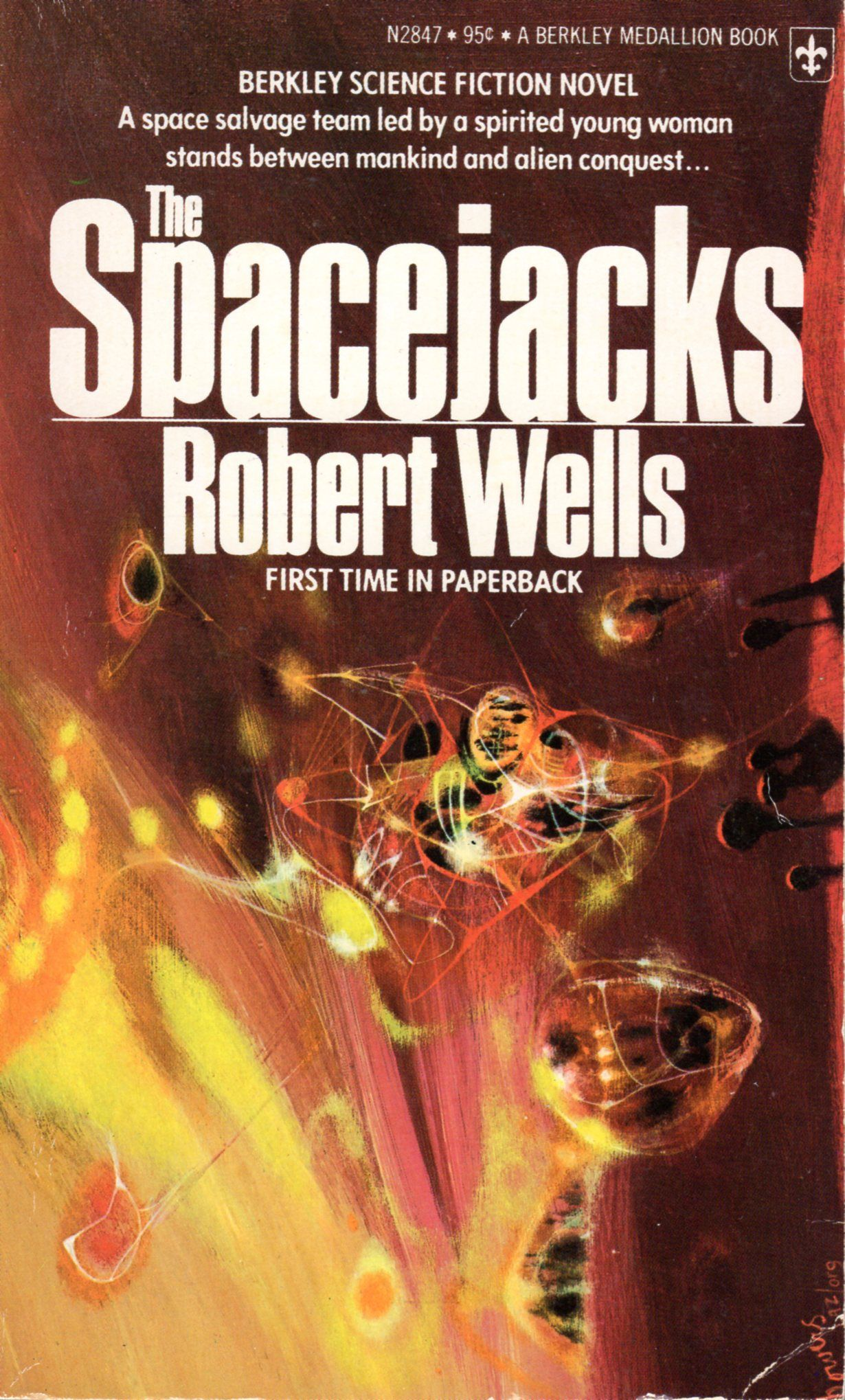 The Spacejacks Robert Wells Cover By Richard Powers Science Fiction Illustration Fiction Science Fiction