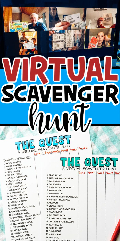 42++ Virtual scavenger hunt template inspirations