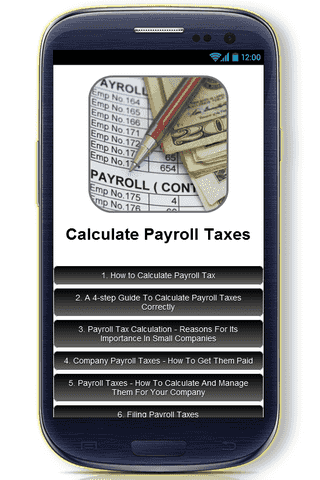 Our Calculate Payroll Taxes App Concentrates On Very Detailed