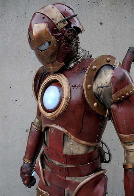 Steampunk Iron Man Costume...looks cool but somehow he dont look as intimidating