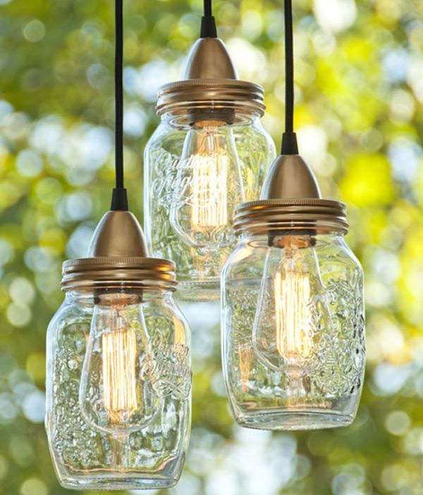 Easy Low Budget Diy Project For Bright Evenings Jar Lamp Jar Lights Mason Jar Lighting Diy Outdoor Lighting