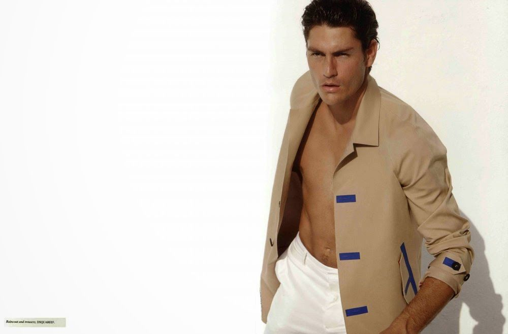'Beige': Tyson Ballou para Fashion for Men No. 4 por Milan Vukmirovic