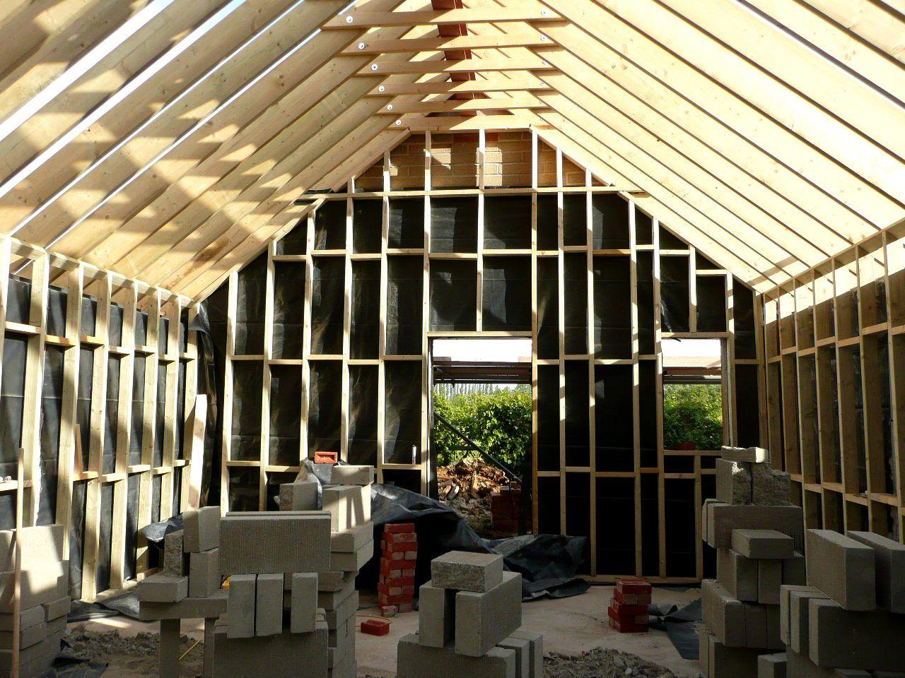 Marks Tey Essex 1st Fix Timber Studwork Walls Under
