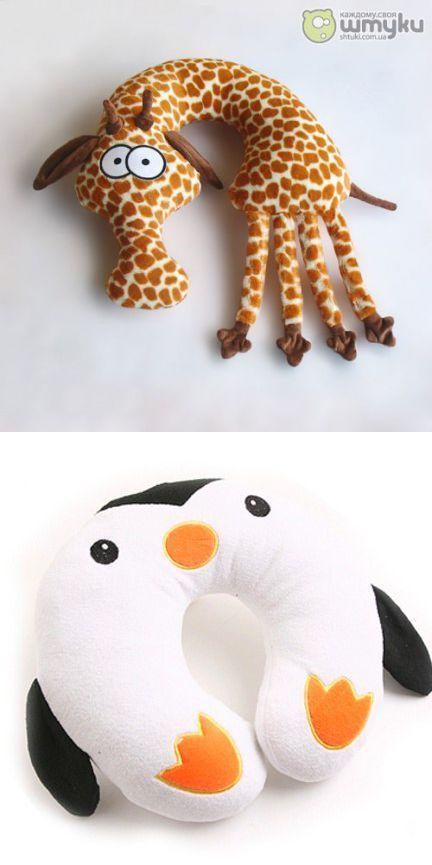 Cuellito de jirafa y pingüino   Hogar   Pinterest   Costura, Cojines ...