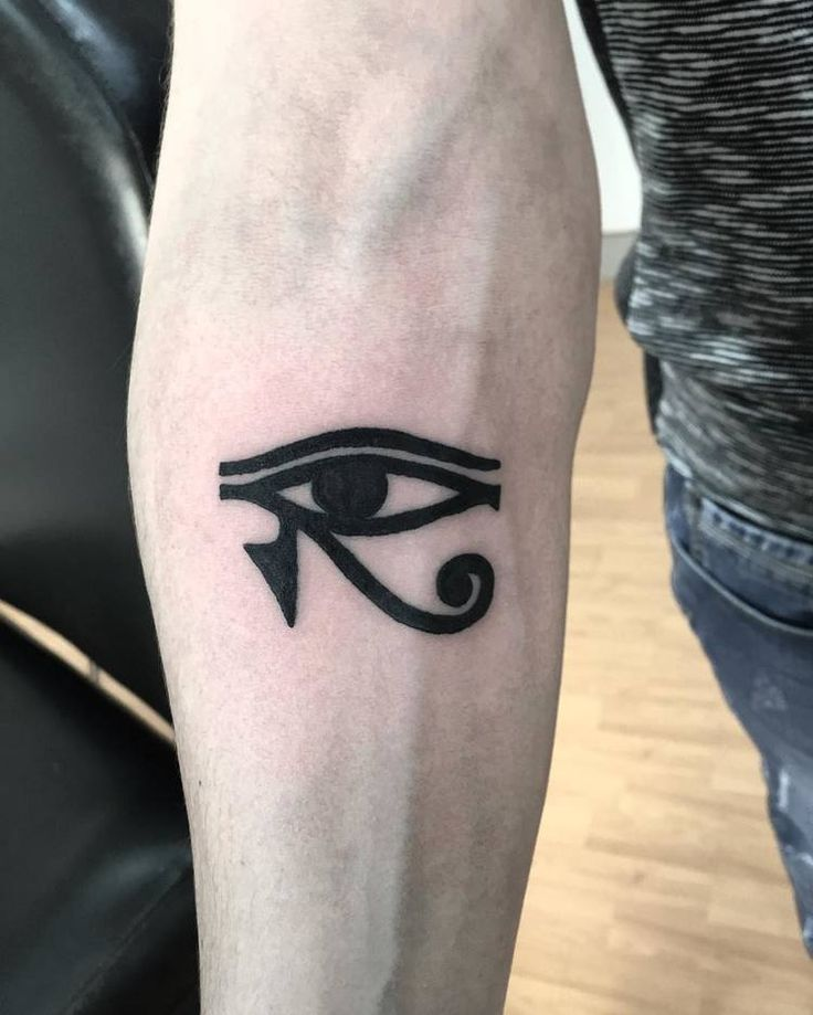 Black Ink Eye Of Horus Tattoo By Andreavescitattoo