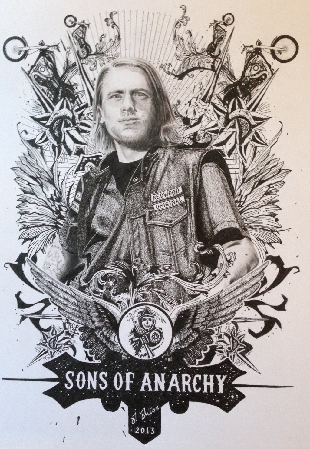Sons Of Anarchy Chibs Sketch By Dr Horrible On Deviantart Sons Of Anarchy Drawings Poster Drawing