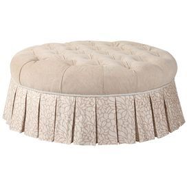 """Bring country-chic style to your home with this charming design from Jennifer Taylor, artfully crafted for lasting appeal.   Product: BenchConstruction Material: Polyester and rayonColor: Off whiteDimensions: 17"""" H x 39"""" DiameterNote: Some assembly requiredCleaning and Care: Spot clean only"""