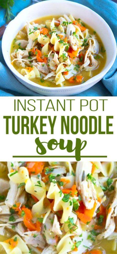 Photo of Turkey Noodle Soup {Instant Pot or Stovetop}