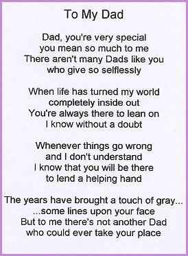 Best Dad Poems From Daughter   father poems   Inspiring Ideas ...