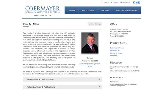 Attorney Web Design By Paperstreet Www Paperstreet Com Web