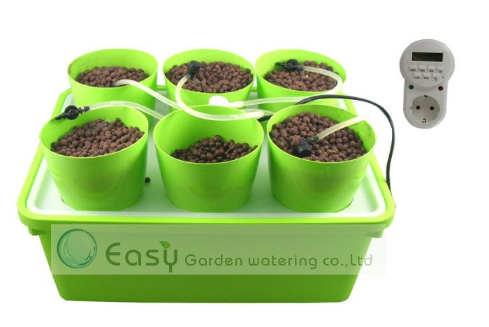 Drip Growing System For Hydroponics System With Automatic Timer Cloner Bucket Free Shipping In Nursery Pots From Home Hydroponics Hydroponics System Timer