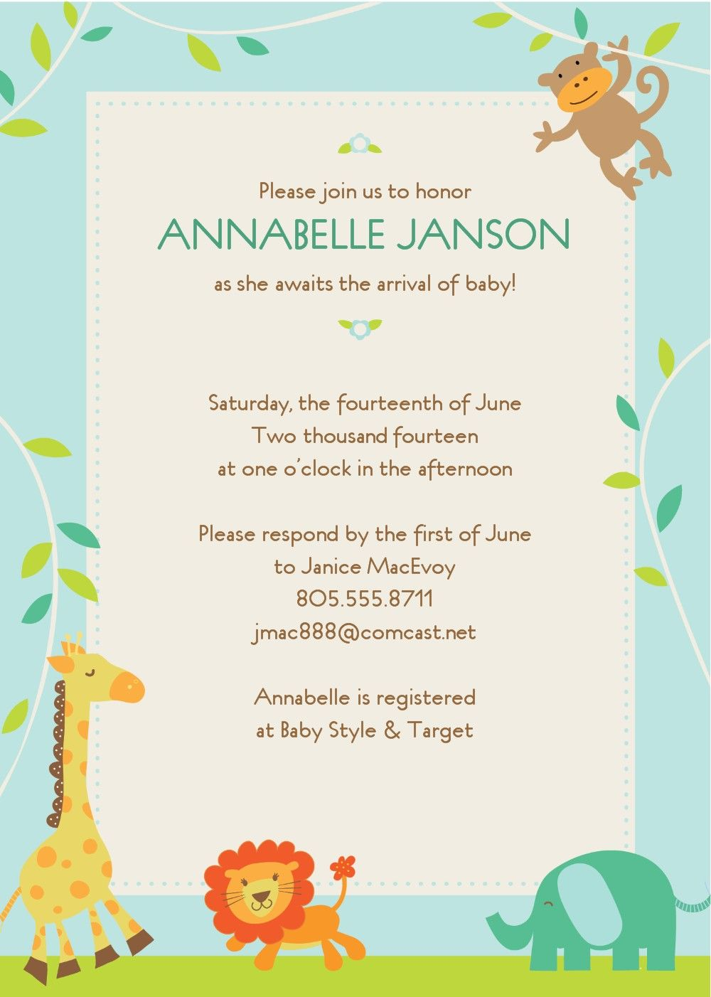 17 Best images about Baby shower invitation templates on Pinterest ...