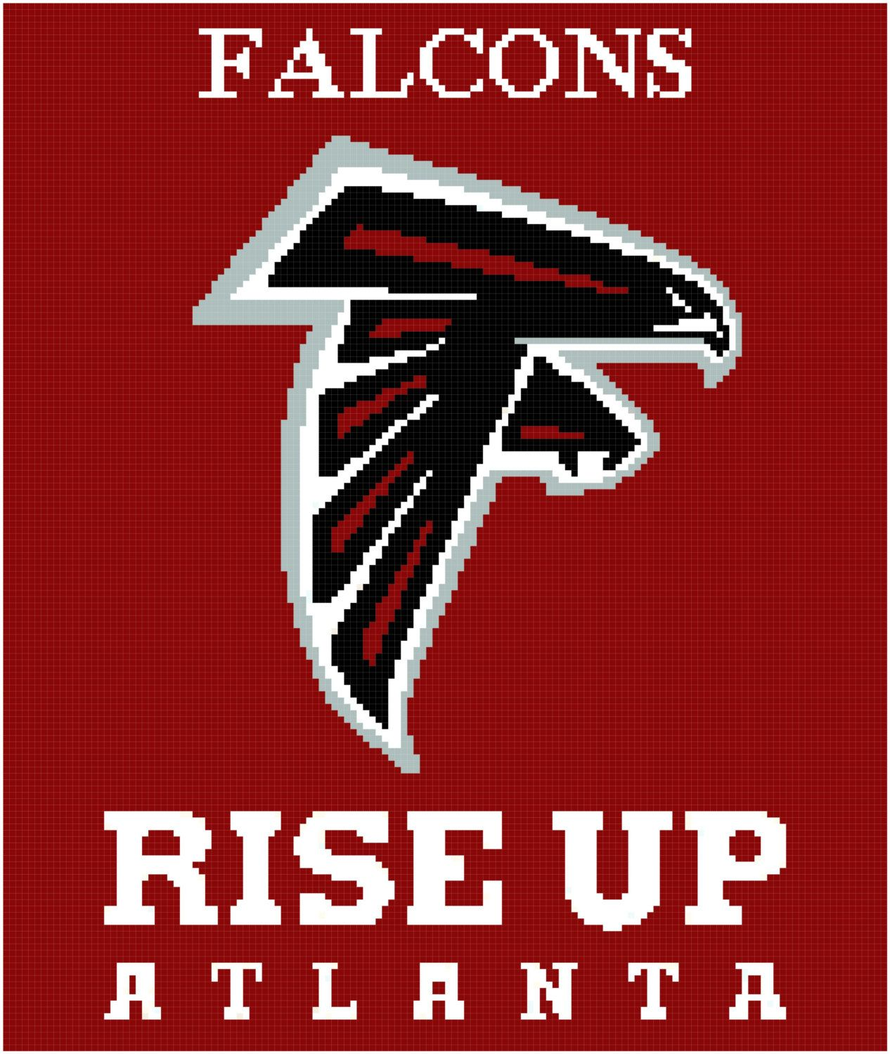 Atlanta Falcons Football Crochet Afghan Graph Pattern C2c Crochet Pattern Free Crochet Patterns Free Blanket Crochet Afghan