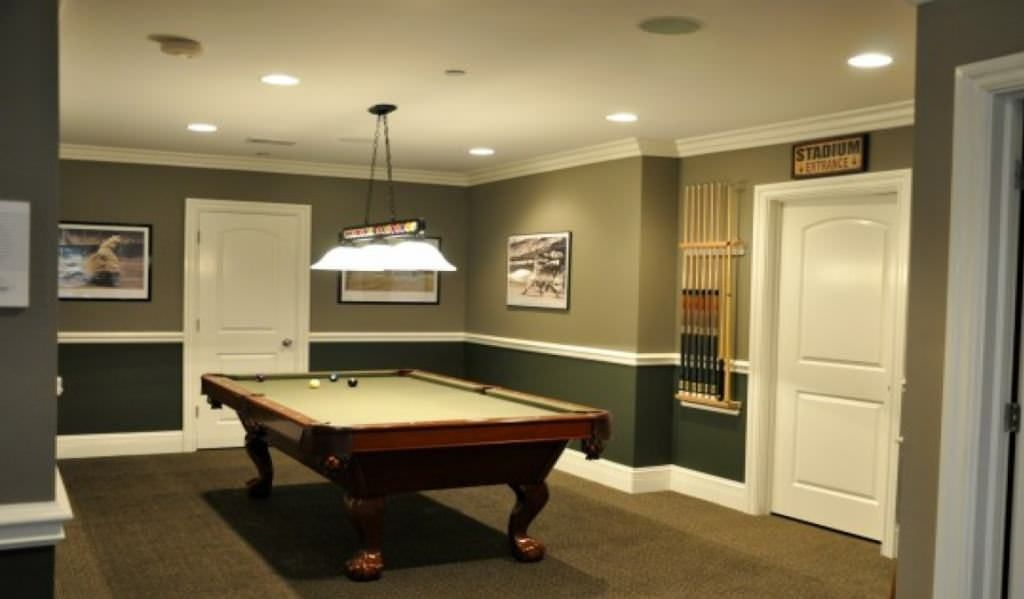 Selecting The Excellent Concepts Of Man Cave Paint Colors In 2020 Basement Wall Colors Basement Decor Modern Pool Table