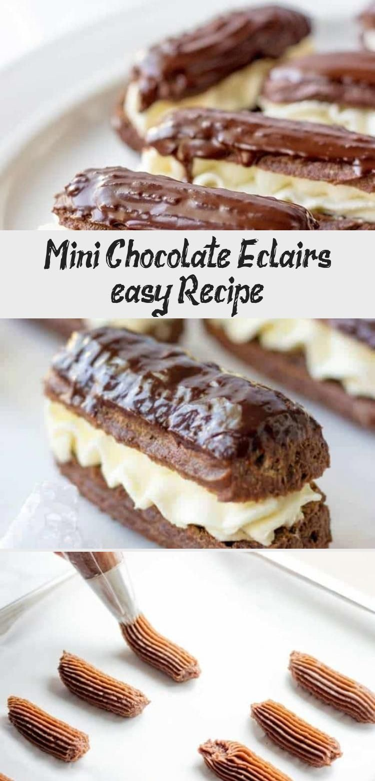 Photo of Looking for the best chocolate dessert recipes? Try Mini Chocolate Eclairs With …