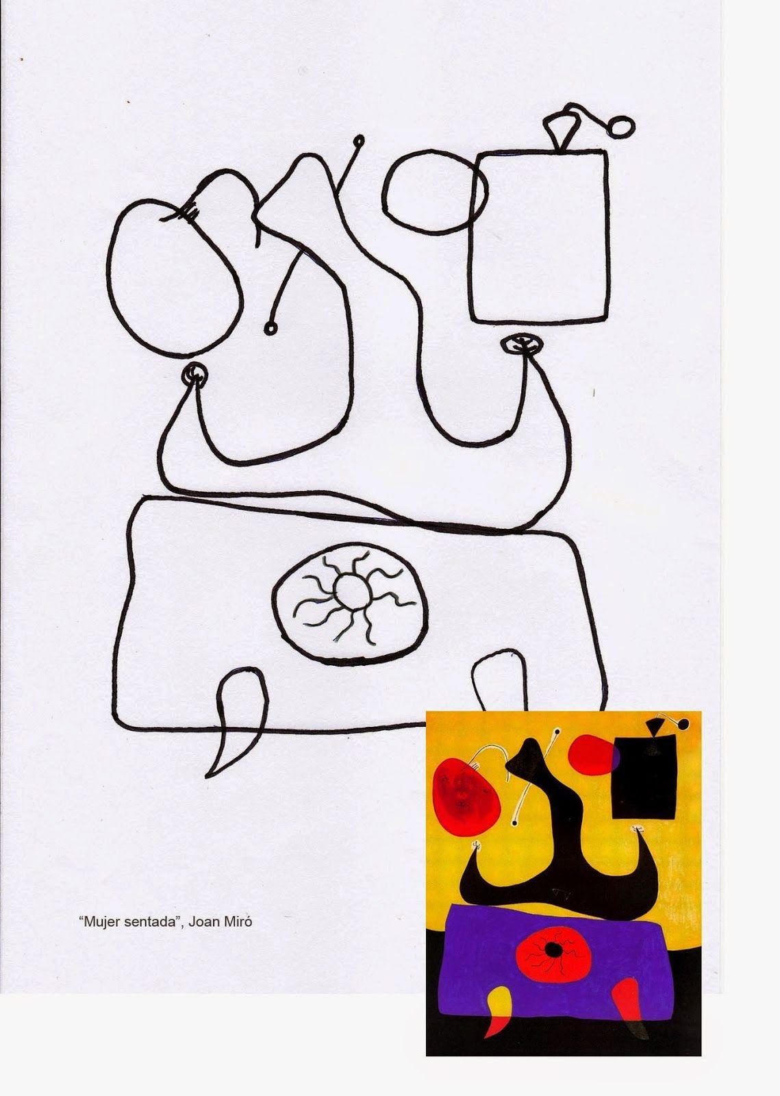 Pintores Famosos Miró Para Niños Cuadros Para Colorear Cuentos