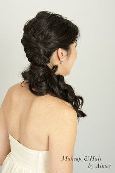 Wedding Low Side Ponytail Hairstyle Photo By Aimee Lam Wedding