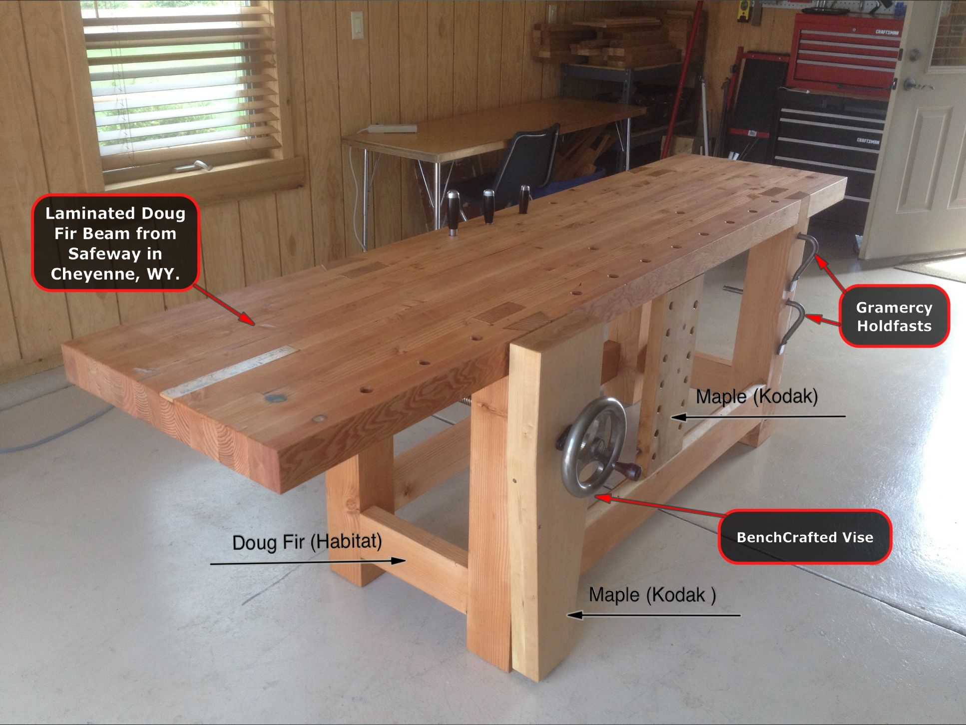 Roubo Bench Made Entirely From Reclaimed Wood Woodworking Bench Custom Woodworking Woodworking Projects