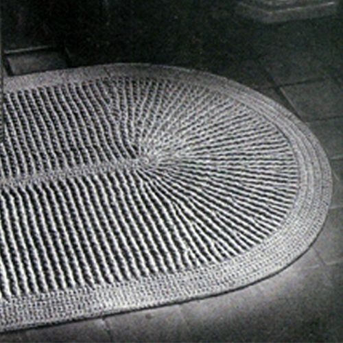 This Crochet Rug Pattern Makes A Oval Rug Thats Perfect For Your