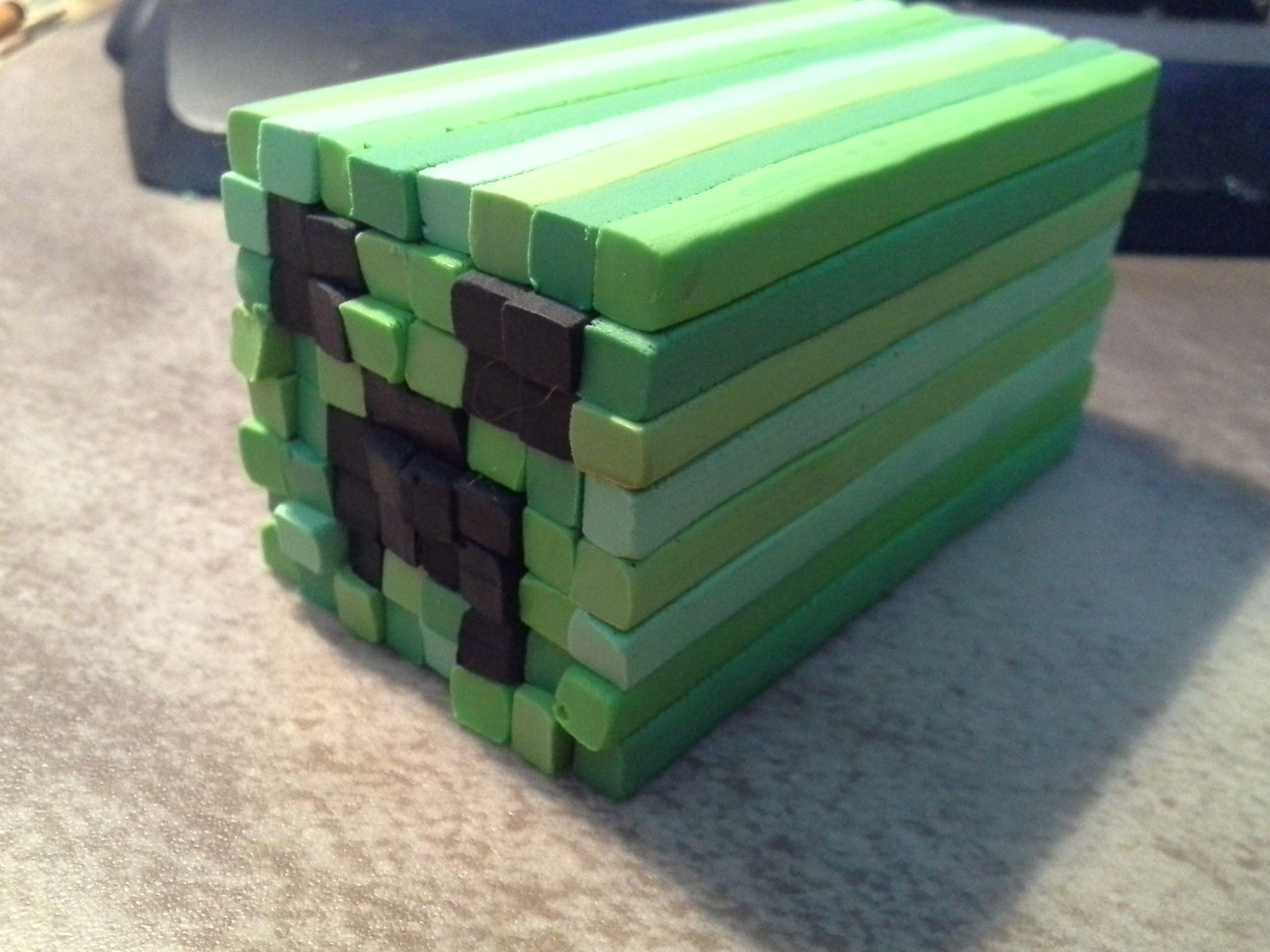 Minecraft polymer clay   Hayden   Pinterest   Porcelana fría y Porcelana
