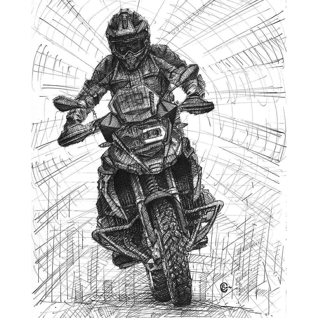 Bmw R 1200 Gs Desenho De Moto Empinando
