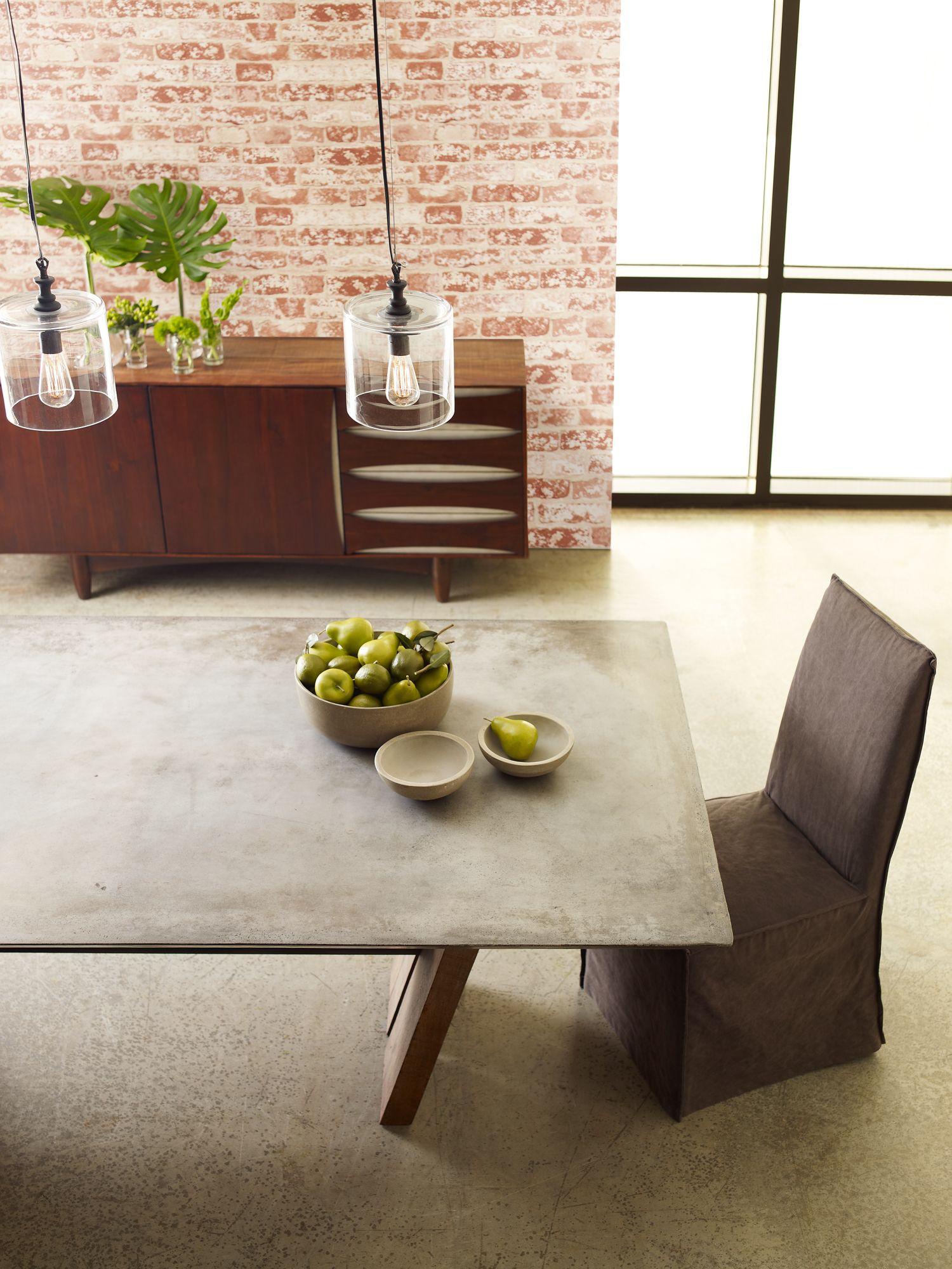 Concrete Bonham Dining Table Found At Four Hands Home Austin Tx