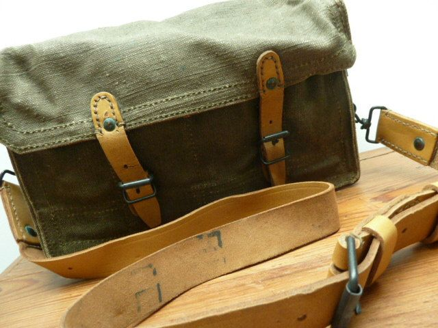 Vintage french army ammo bag