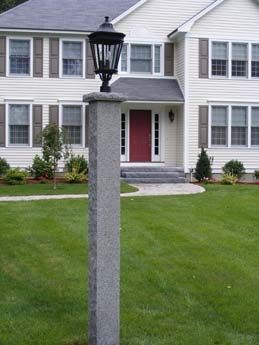 Woodbury Gray Lamp Post With Cap Lamppost